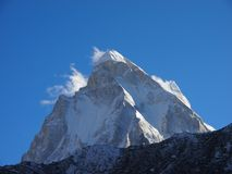 Himalaya sacro Pico de Shivling Foto de archivo