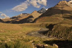 In the Himalaya. Somewhere in Indian Himalayas. Mountain landscape royalty free stock photography