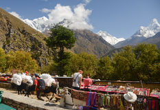 Himalaya souvenir stands Royalty Free Stock Images