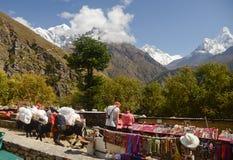 Himalaya souvenir stands Royalty Free Stock Images