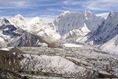 Himalaya Summits - Khumbu Royalty Free Stock Photo