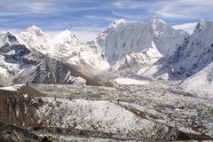 Himalaya Summits - Khumbu Royalty Free Stock Photo