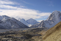 Himalaya Summits - Khumbu Royalty Free Stock Image
