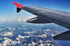himalaya view from aeroplane Stock Photos