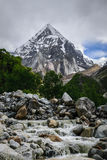 The Himalaya. View of Himalaya From Bhojwasa, Gangotri Royalty Free Stock Photo