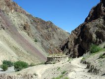 Himalayagebergte in Ladakh Stock Foto