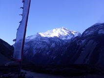 Himalayagebergte in Manang royalty-vrije stock fotografie