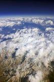 Himalayagebergte van de lucht Royalty-vrije Stock Afbeelding