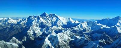 Himalayagebergte - zet Everest op royalty-vrije stock foto's