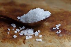 Himalayan μακρο άποψη καρυκευμάτων Halite αλατισμένη Φυσικό ορυκτό αρωματικών ουσιών λευκό χλωριούχου νατρίου τροφίμων συντηρητικ στοκ εικόνα