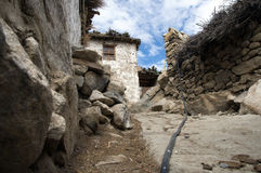 himalayan παραδοσιακό χωριό Στοκ Εικόνα