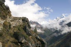 himalayan тропка Непала стоковая фотография