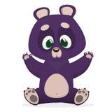 Himalayan bear cartoon giving a hug. Big collection of cartoon forest animals. Vector illustration for children book. Himalayan bear cartoon giving a hug. Big Royalty Free Stock Photo