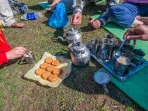 Himalayan breakfast Stock Photography