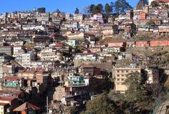 himalayan cityscape Arkivfoto