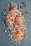 Himalayan Crystal Rock Salt background Royalty Free Stock Photography
