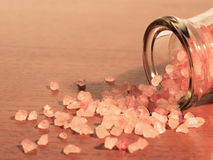Himalayan crystal salt is far superior to traditional iodized sa Royalty Free Stock Images