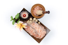 Himalayan crystals rock salt Stock Image