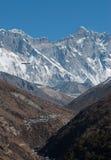 Himalayan Eagle over a valley Stock Photos