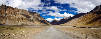 Himalayan highway panorama Stock Images