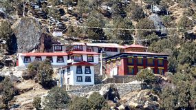 Himalayan hospital, in a Everest basecamp trek. stock photos