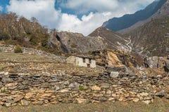 Himalayan House -  Himalayas Nepal Stock Photo