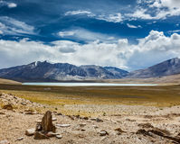 Himalayan lake Kyagar Tso, Ladakh, India Stock Photo