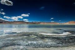 Himalayan lake Tso Kar in Himalayas, Ladakh Royalty Free Stock Image