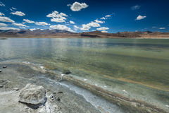 Himalayan lake Tso Kar in Himalayas, Ladakh, India Stock Photo