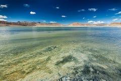 Himalayan lake Tso Kar in Himalayas, Ladakh, India Stock Photography