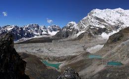 Himalayan lakes. Blue himalayan lakes near Mt Everest Royalty Free Stock Photos