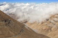 Himalayan landscape  along Manali-Leh highway. Himachal Pradesh, India Royalty Free Stock Images