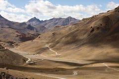 Himalayan landscape along Manali-Leh highway. Himachal Pradesh, India Stock Image