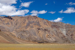 Himalayan landscape along Manali-Leh highway. Himachal Pradesh, India Royalty Free Stock Image