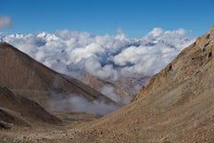 Himalayan landscape along Manali Leh highway. India Royalty Free Stock Photos