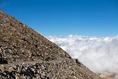 Himalayan landscape in Himalayas along Manali-Leh highway. Himachal Pradesh, India Royalty Free Stock Image