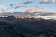 Himalayan landscape in Himalayas along Manali-Leh highway. Himachal Pradesh, India Stock Photos
