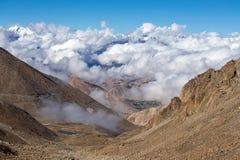 Himalayan landscape in Himalayas along Manali-Leh highway. Himachal Pradesh, India Stock Images