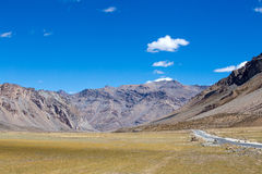 Himalayan landscape in Himalayas along Manali-Leh highway. Himachal Pradesh, India Royalty Free Stock Images