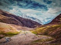Himalayan landscape in Himalayas Royalty Free Stock Photo