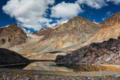 Himalayan landscape with mountain lake Royalty Free Stock Image