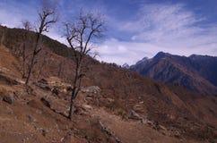 Himalayan landscape scene in winter Stock Image