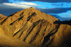 Himalayan mountain. At sunset, Ladakh, India Royalty Free Stock Image