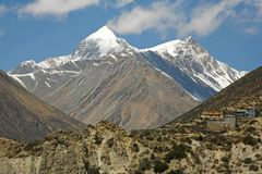 Himalayan mountain Royalty Free Stock Photo