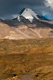 Himalayan mountain with camps Stock Photography