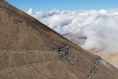 Himalayan mountain, cloud and blue sky . Himachal Pradesh, Ladakh, India Royalty Free Stock Photo