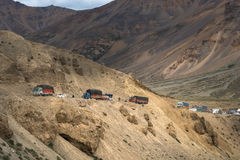 Himalayan mountain landscape along Manali - Leh National Highway Royalty Free Stock Images
