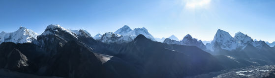 Himalayan mountain panorama Royalty Free Stock Image