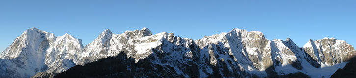 Himalayan mountain panorama Royalty Free Stock Photos
