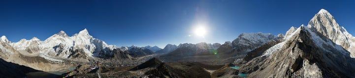 Himalayan Mountain Panorama Royalty Free Stock Photo